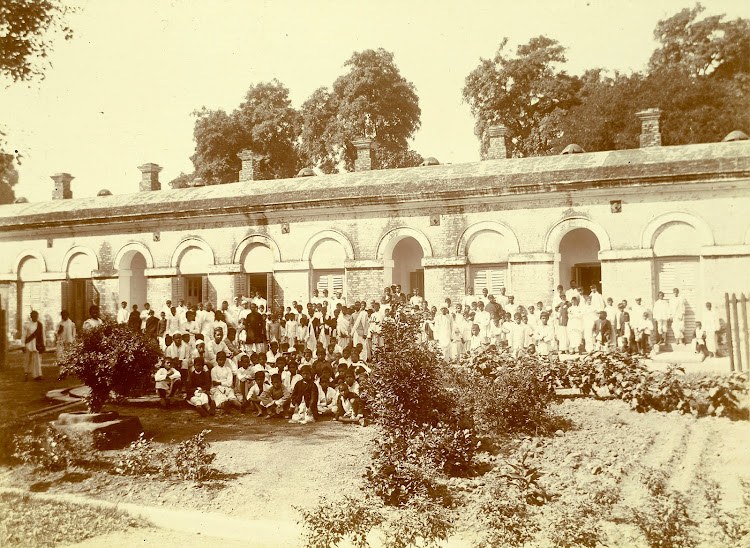 Government Aided Native School in Jamalpur, Bihar - c1897