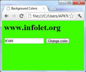 textbox button colorcode control change background color javasript