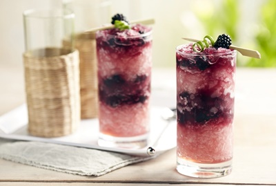 Frozen Blackberry Sangria Margarita Swirl