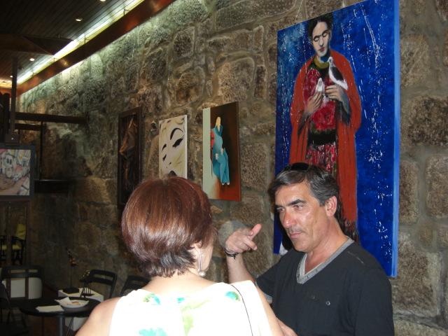 Francisco with Eulália Gonçalves