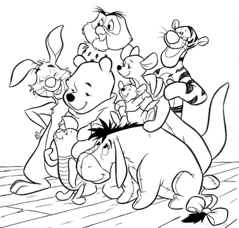 Dibujos Winnie the Pooh para colorear | Dibujos Para Colorear