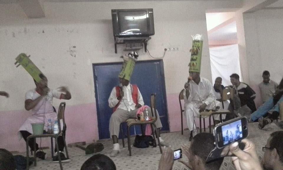 القسم الداخلي للثانوية محمد الجزولي بنيابة تيزنيت ينظم امسية ثقافية وفنية