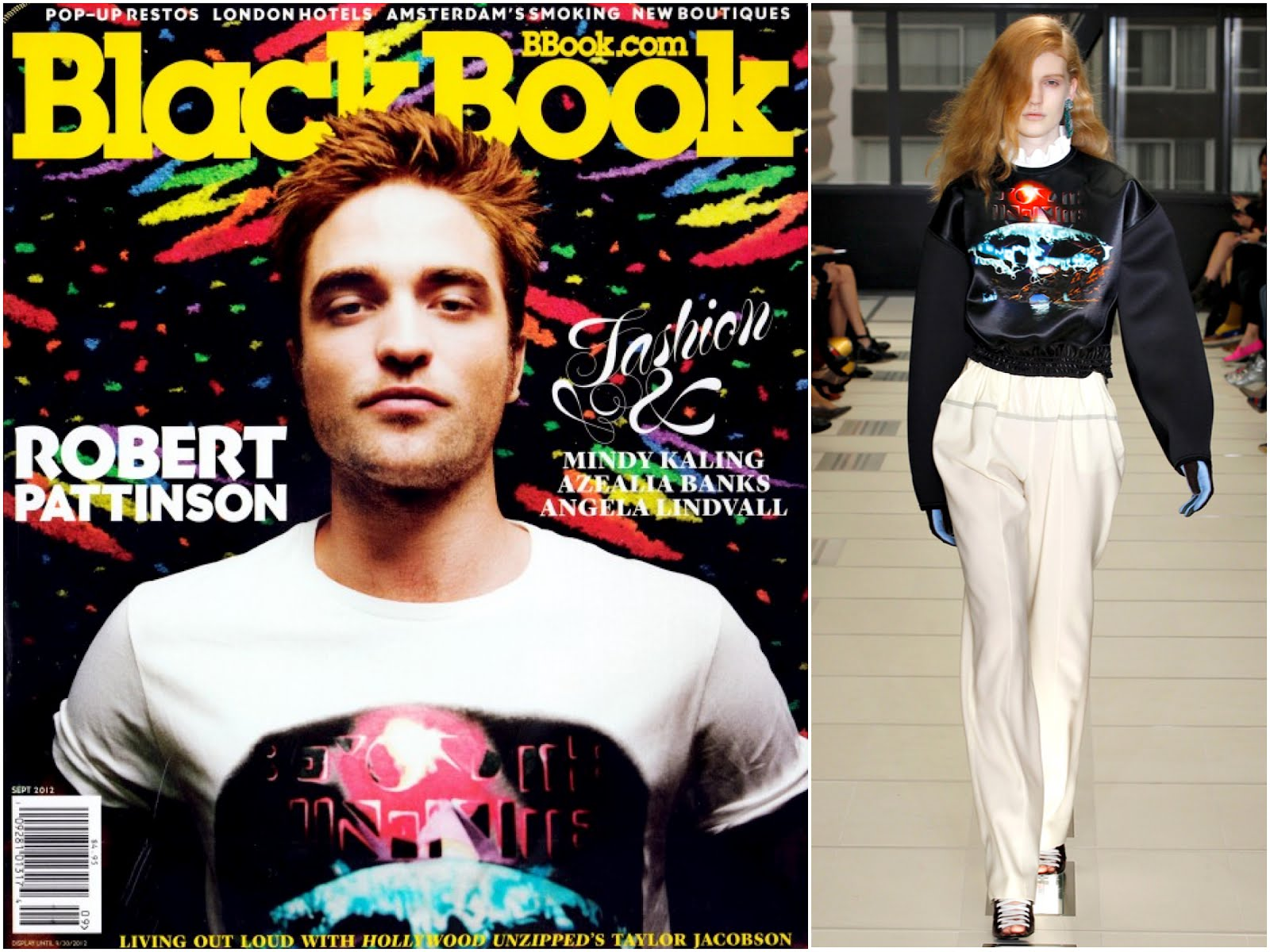 00O00 London Menswear Blog celebrity style Robert Pattinson Black Book Magazine September 2012 Balenciaga Egypto Funk