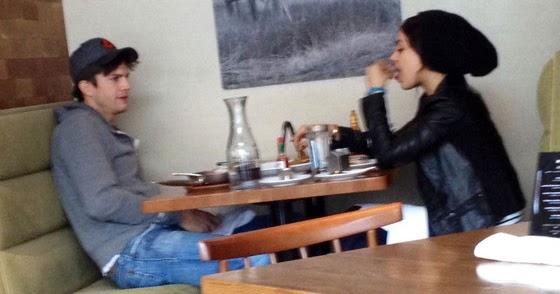 Ashton Kutcher and Mila Kunis Get Flirty at Brunch in Chicago