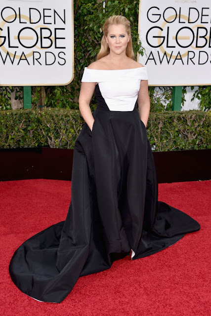 Amy Shumer Pabral Gurung Golden Globes 2016