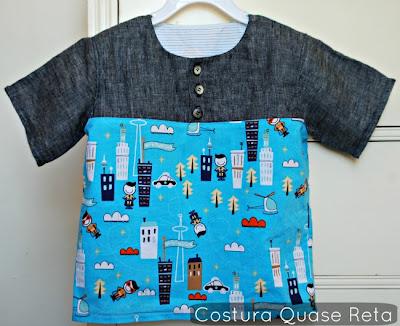 molde camisa de menino
