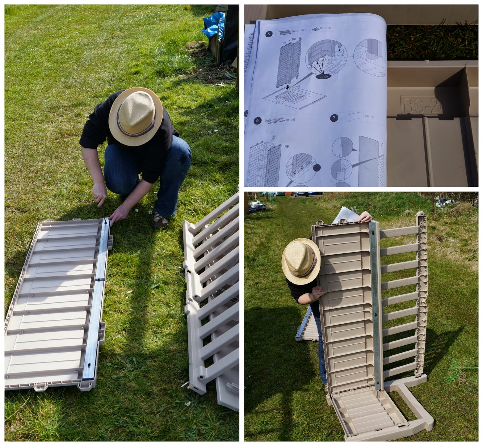 Building the Keter Eden Storage Bench ~ growourown.blogspot.com