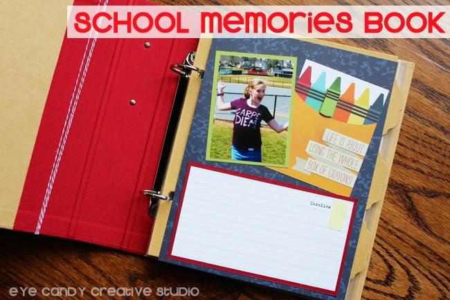 teacher appreciation gift ideas, memory book, school, photos album