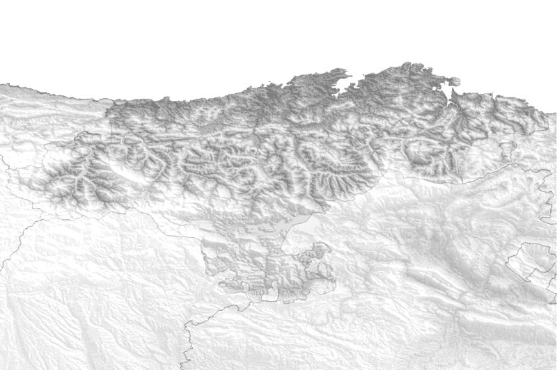 Mapa fisico de Cantabria para imprimir