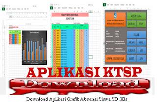 Unduh  File Aplikasi KTSP Plus Grafik Absensi Siswa SD.Xls