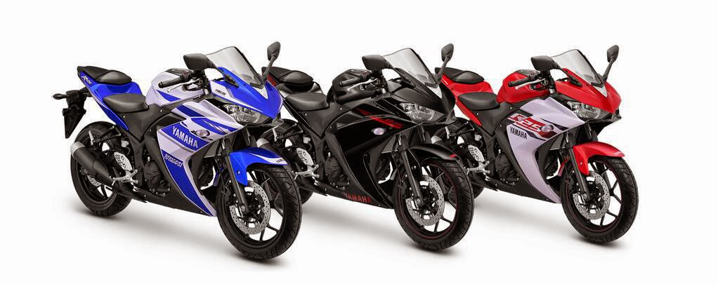 Foto Yamaha R25 2015 Versi ABS Terbaru Piilihan Warna Merah Biru Hitam
