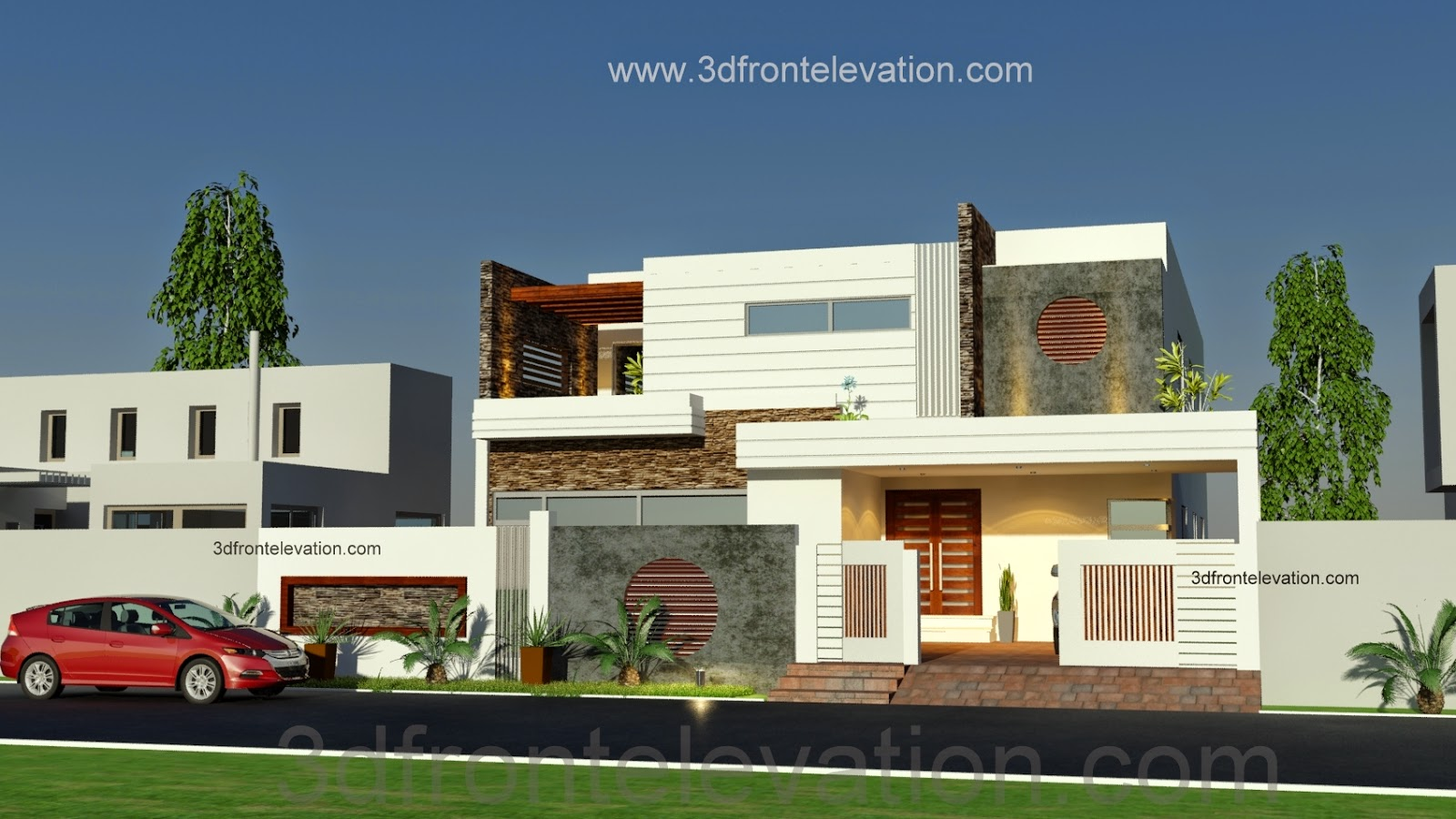 3d front 1 kanal beautiful modern house for New homes design pakistan