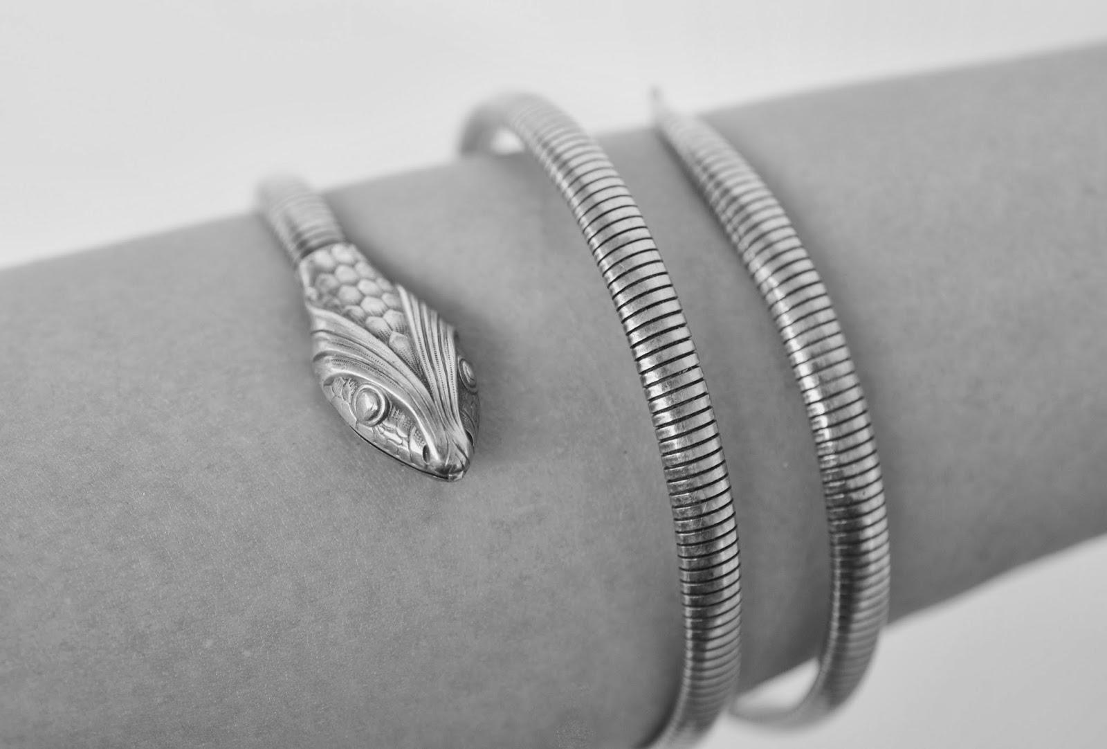 Hi Guys It S Been A While Since I Blog Over At Blogger Here Stunning Sterling Silver Snake Bracelet Made By Forstner Jewelry Manufacturing Corp In