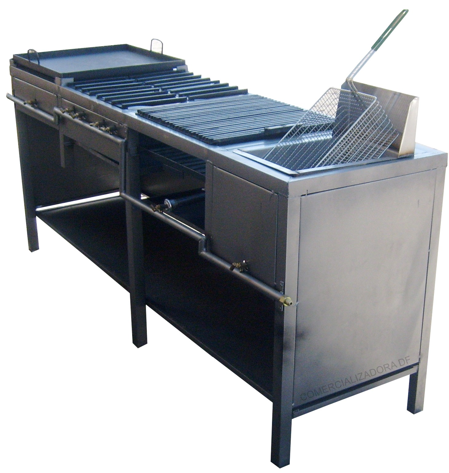 Soluchef plancha 4 hornillas asador y freidora for Planchas para forrar banos