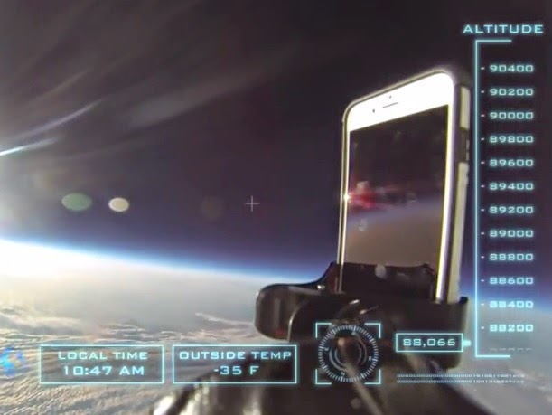 iPhone 6 Drop Test from Space at 101,000 Feet Above the Ground (Video)
