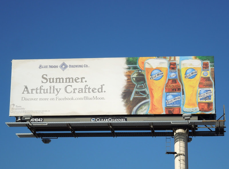Blue Moon Summer Artfully crafted billboard