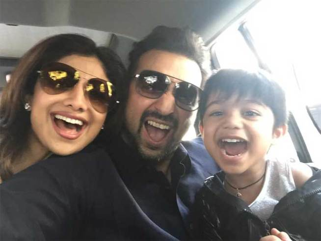 Shilpa Shetty's happy family