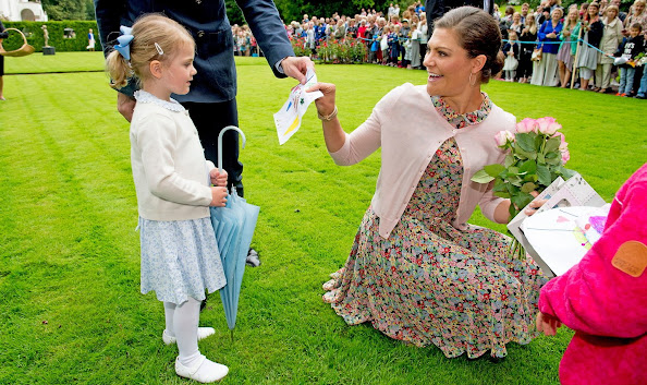 Crown Princess Victoria of Sweden and Prince Daniel and Princess Estelle of Sweden