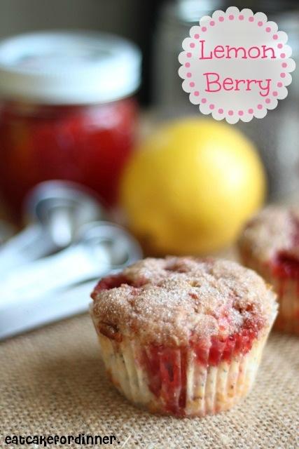 Eat Cake For Dinner: Lemon Berry Chia Seed Yogurt Muffins