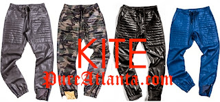Kite Leather Jogging Pants at PureAtlanta.com