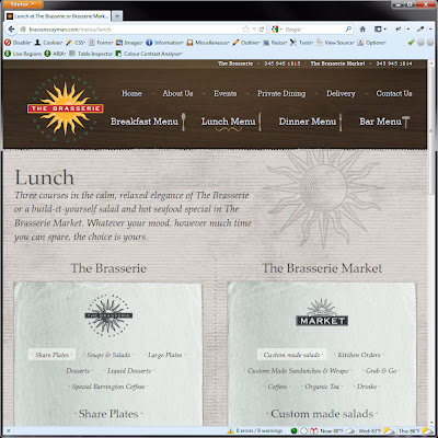 Screen shot of http://brasseriecayman.com/menus/lunch.