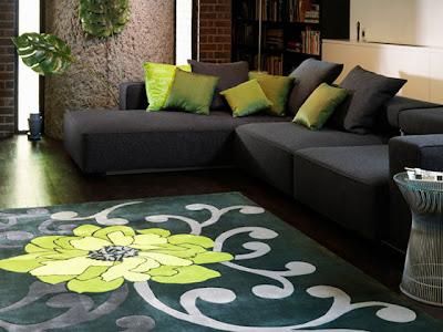 Alfombras de centro para sala deja entrar el color a tu for Alfombra verde turquesa