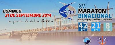 Maratón binacional Salto a Concordia (URU - ARG; 21/sep/2014)