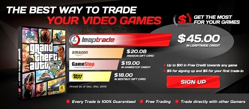 LeapTrade.com Offers Full Value for Trade-In on Games