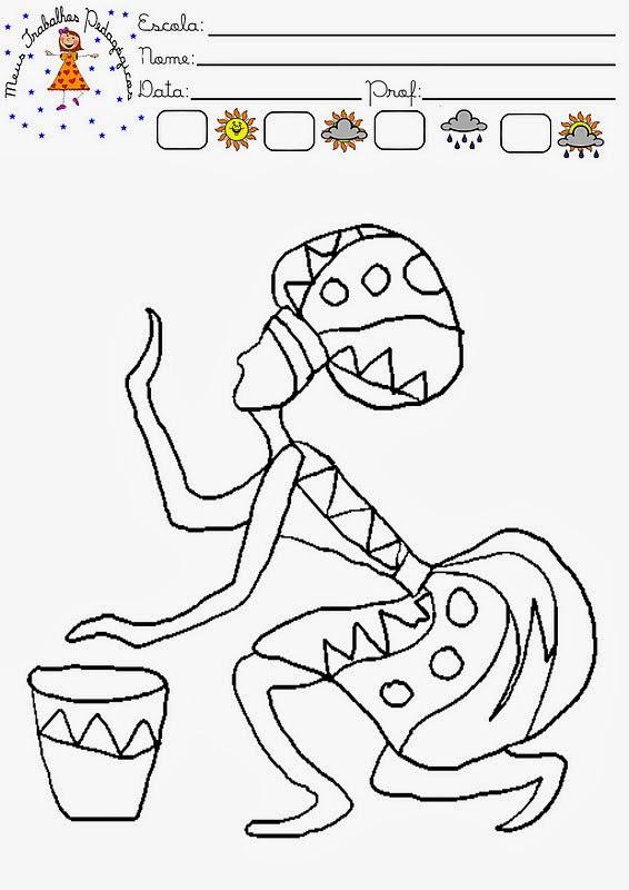 imagens para colorir sobre a consciencia negra - atividades consciência negra exercícios desenhos colorir