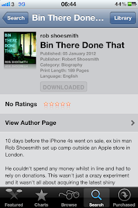 Bin There Done That On iBooks! Rob Shoesmith camped 10 nights at an Apple Store