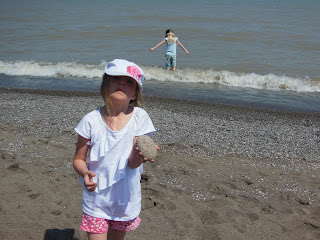 checking out the beach at the campsite