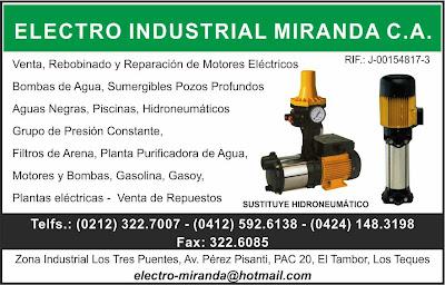 ELECTRO INDUSTRIAL MIRANDA C.A. en Paginas Amarillas tu guia Comercial