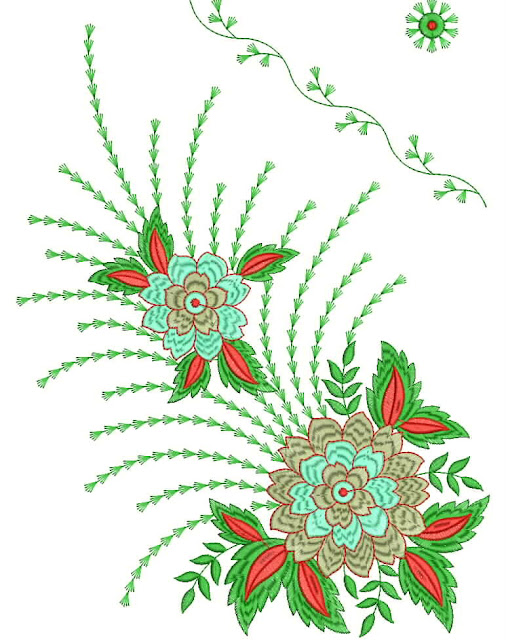 Embroidery Designs  35Dress Daman Embroidery Design