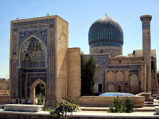 The Gur-e Amir Mausoleum is the final resting place of Timurlane, the Turkic-Mongol conqueror.