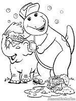 Barney Memandikan Gajah Lucu