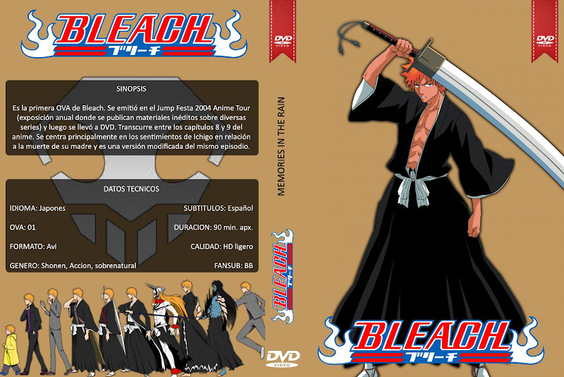Capa DVD Bleach Memories In The Rain
