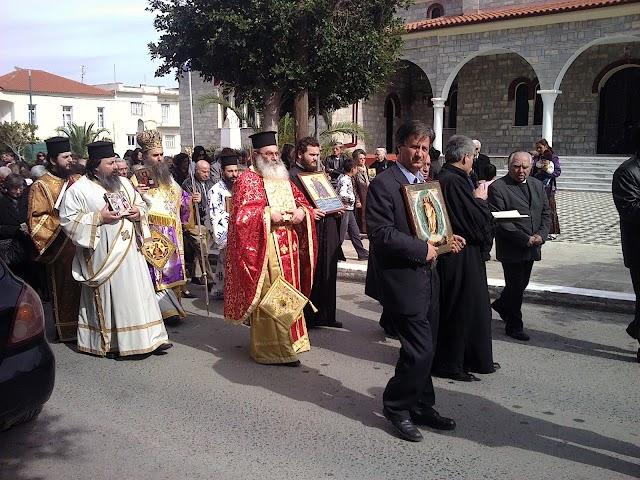 Λαμπρή περιφορά στη Μητρόπολη για τη Κυριακή της Ορθοδοξίας