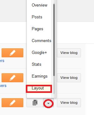 Cara Letak HTML/JavaScript Pada Blog