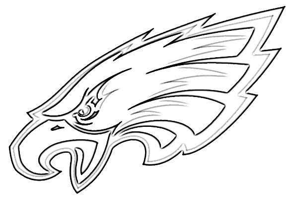 Philadelphia eagles logo coloring coloring pages for Coloring pages of eagles