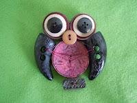 handmade brooch made from buttons