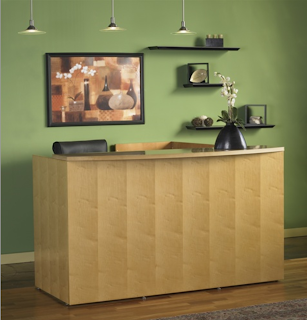 Green Certified Mayline Luminary Reception Desk