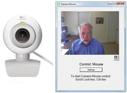 Tips Windows Cara mengontrol kursor komputer tanpa tangan melalui aplikasi camera mouse plus gerakan Wajah