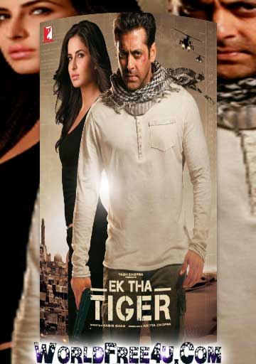 Poster Of Bollywood Movie Ek Tha Tiger (2012) 300MB Compressed Small Size Pc Movie Free Download worldfree4u.com
