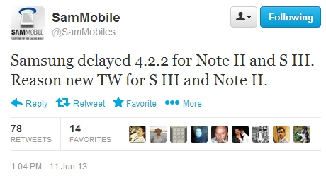 Sammobile Tweet on Twitter