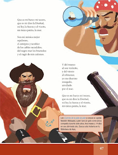 Apoyo Primaria Español Lecturas 6to Grado Canción del pirata