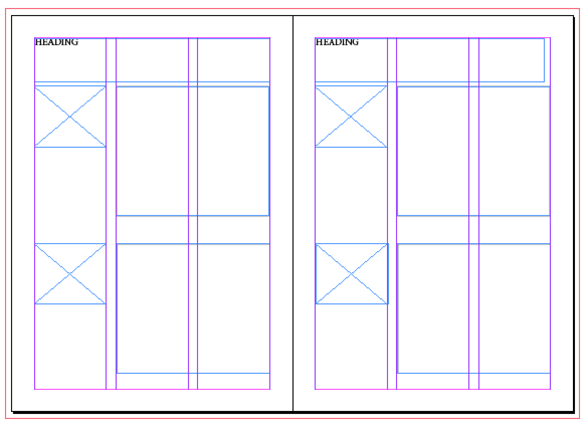 Design Practice: Grid layouts: InDesign