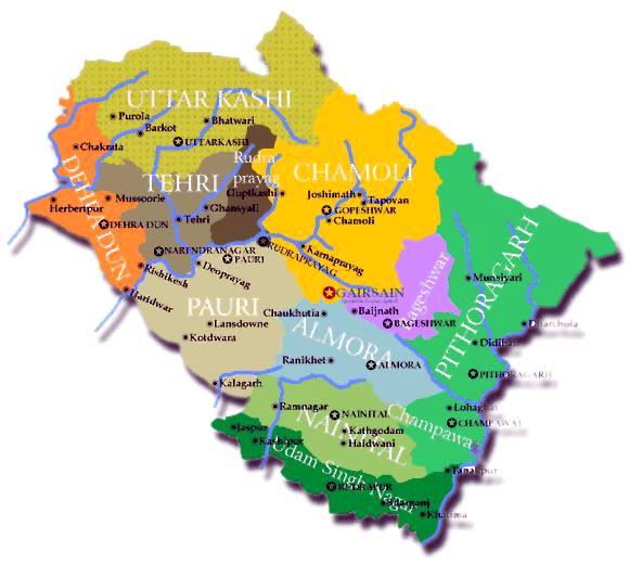 uttarakhand mapUttarakhand Temple Map