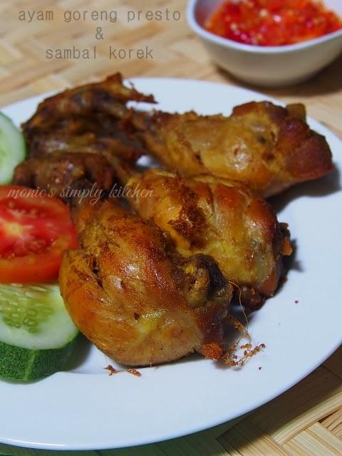 resep ayam goreng presto sambal korek