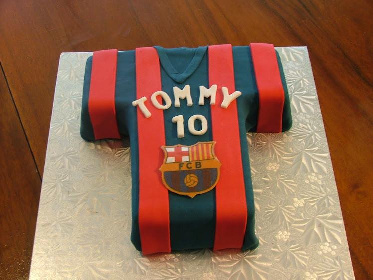torta Barça per Tommy
