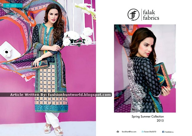 Falak Fabrics Spring Summer Lawn 2015 For Women